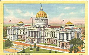 Harrisburg Pa State Capitol Postcard P36701