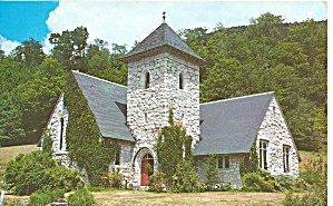 Sherburne Vt Stone Church Postcard P36704