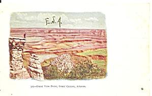 Grand Canyon AZ Grand View Point postcard p36707 (Image1)