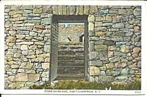 Fort Ticonderoga Ny Ethan Allen Gate P36708