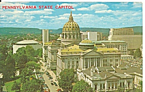 Harrisburg Pa State Capitol Postcard P36713