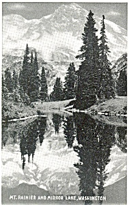 Mt Rainier Mirror Lake Washington  Postcard (Image1)