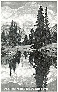 Mt Rainier Mirror Lake Washington  Postcard p3671 (Image1)
