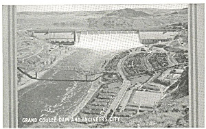 Grand Coulee Dam Engineer s CIty WA  Postcard p3672 (Image1)