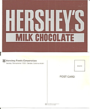 Hershey S Milk Chocolate Postcard P36735
