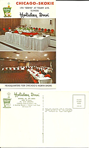 Edens IL Holiday Inn I 94 Postcard P36736 (Image1)