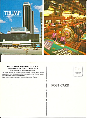 TRUMP Hotel Casino Atlantic City NJ Postcard P36743 (Image1)
