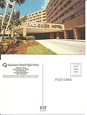 Radisson Hotel High Point NC Main St Postcard P36749 (Image1)