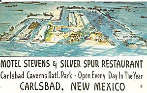 Carlsbad NM Motel Stevens Silver Spur Restaraunt  p36798 (Image1)