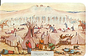 Wounded Knee Sd Painting By Andrew Standing Soldier P36823