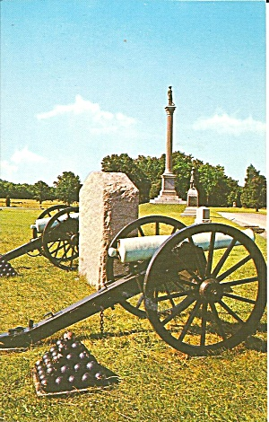 Gettysburg Pa Cannons Monuments From Roadways P36828