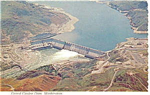 Grand Coulee Dam Aerial View Postcard (Image1)