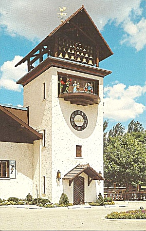 Frankenmuth Mi Inn Glockenspiel Tower P36840