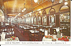 Brooklyn Ny Gage Tollner Oyster Chop House Interior P36871