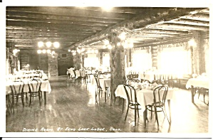 Echo Lake Co Echo Lake Lodge Dining Room Rppc P36872