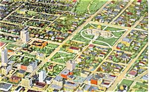 Aerial View Jackson MS Postcard p3687 (Image1)