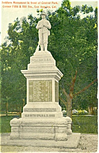Los Angeles CA Soldier s Monument Postcard p3691 (Image1)