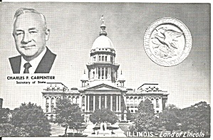Illinois State Capitol and Shield p36938 (Image1)