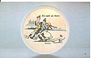 Newell Pottery Walk On Rhine Proof Rockwell Collection P36954