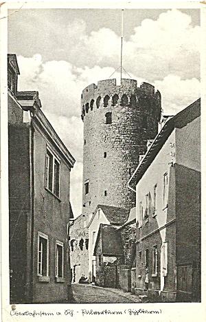 Oberlahnstein On Rhine Germany Old Tower P36969