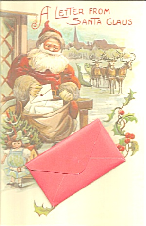 Santa Claus Novelty Card With Front Pouch P36970
