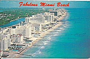 Miami Beach Fl Aerial View Hotels P36994