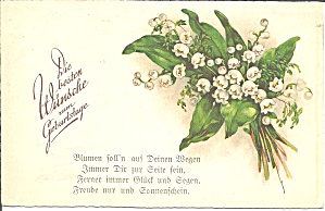 German Birthday Wishes Vintage Postcard p37008 (Image1)