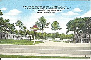 Gulfport Ms Pine Lodge Motor Court P37013