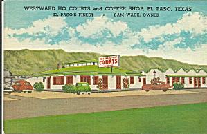 El Paso TX Westward Ho Courts Motel p37017 (Image1)
