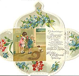 German Novelty Birthday Telegramm postcard p37060 (Image1)