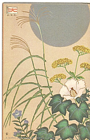 Japan Postcard of Autumn Flowers p37075 (Image1)