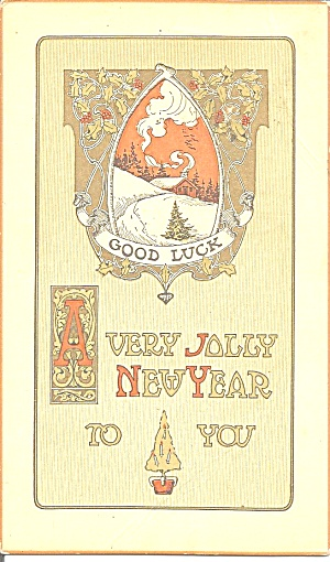 New Years Wishes postcard p37097 (Image1)