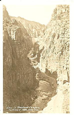 Cody WY Soshane Canyon  RPPC p37121 (Image1)