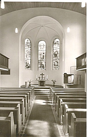 Oberlahnstein Germany Church Interior Postcard P37149