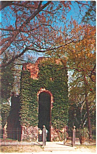 Jamestown VA  Church Tower Postcard (Image1)