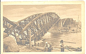Wwi Europe Destroyed Bridge P37230