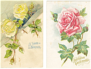 Happy Birthday Vintage Postcard Lot 5 (Image1)