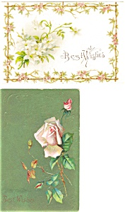 Best Wishes Vintage Postcard Lot 2 (Image1)
