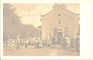 Church Scene Wwi Era Europe P37259