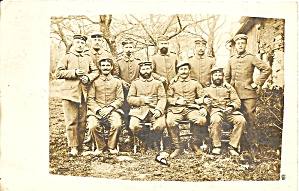 Wwi Soldiers In Uniform Group Photo P37263