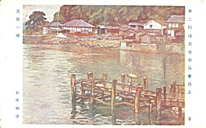 Japanese Postcard Pier and Boats p37278 (Image1)