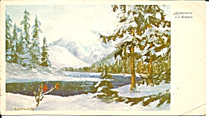 Winter Scene From Painting German Postcard P37285