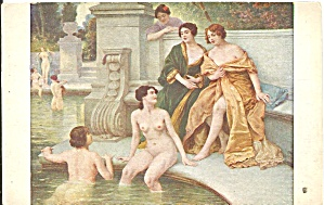 The Bath by Jules Scalbert postcard 37290 (Image1)