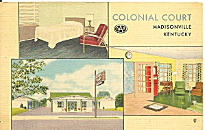 Madison Ky Colonial Court Motel P37293