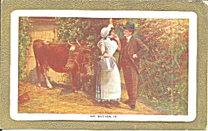 Victorian Couple With Cow Mr Butter P37328