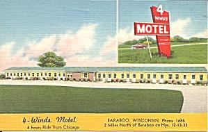 Baraboo WI 4 Winds  Motel p37371 (Image1)
