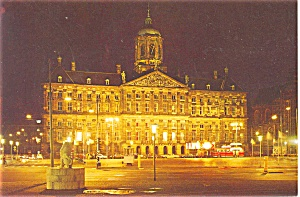 Royal Palace Amsterdam Holland Postcard p3738a (Image1)