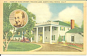 North Hollywood Ca Home Of Bing Crosby P37398
