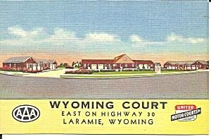 Laramie WY Wyoming Court Motel p37401 (Image1)