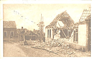 Wwi Damaged Building On Western Front P37407